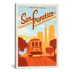 iCanvas 'The City by the Bay - San Francisco, California' by Anderson Design Group Vintage Advertisement on Canvas