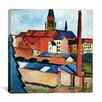 """iCanvas """"St. Mary's with Houses and Chimney"""" by August Macke Painting Print on Canvas"""