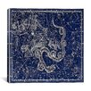 iCanvas Celestial Atlas - Plate 2 (Ursa Minor) by Alexander Jamieson Graphic Art on Canvas in Blue