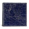 iCanvas Celestial Atlas - Plate 22 (Pisces) by Alexander Jamieson Graphic Art on Canvas in Blue