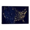 iCanvas Astronomy and Space The Earth at Night Graphic Art on Canvas