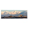 iCanvas Anchorage Panoramic Skyline Cityscape Photographic Print on Canvas in Orange