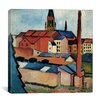 """iCanvas """"St. Mary's with Houses and Chimney"""" Canvas Wall Art by August Macke"""