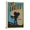 iCanvas 'The City of Angels - Los Angeles, California' by Anderson Design Group Vintage Advertisement on Canvas