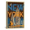 iCanvas The City that Never Sleeps - New York City, New York by Anderson Design Group Vintage Advertisement on Canvas