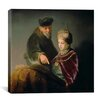 "iCanvas ""The Young Scholar and His Tutor"" Canvas Wall Art by Rembrandt"