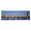 iCanvas Panoramic Massachusetts, Boston, Charles River, View of Boats on a River by a City Photographic Print on Canvas