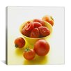 iCanvas Food and Cuisine Tomatoes in Bowl Photographic Print on Canvas