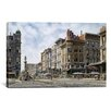 """iCanvas """"San Francisco: Latta's Fountain, Market and Geary STS"""" by Stanton Manolakas Graphic Art on Canvas"""