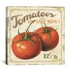 "iCanvas Decorative ""Tomatoes on Sale Now (on Special I)"" by Lisa Audit Vintage Advertisement on Canvas"