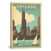 iCanvas 'The Windy City - Chicago, Illinois' by Anderson Design Vintage Advertisement on Canvas