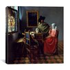 """iCanvas """"The Wine Glass"""" Canvas Wall Art by Johannes Vermeer"""