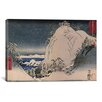 """iCanvas Ando """"Shrines in Snowy Mountains"""" by Utagawa Hiroshige l Painting Print on Canvas"""