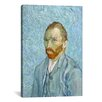 iCanvas 'Self Portrait St. Remy 1889' by Vincent Van Gogh Painting Print on Canvas