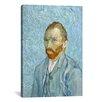 iCanvas 'Van Gogh Self Portrait St. Remy 1889' by Vincent Van Gogh Painting Print on Canvas