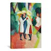 iCanvas 'Three Girls' by August Macke Painting Print on Canvas