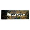 iCanvas Panoramic Los Angeles, California, Aerial View of Hollywood Sign at Hollywood Hills Photographic Print on Canvas