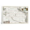 "iCanvas ""Sea Chart of North American Discovery"" Canvas Wall Art by Jan Jansson"
