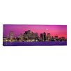iCanvas Panoramic Massachusetts, Boston, View of an Urban Skyline by the Shore at Night Photographic Print on Canvas
