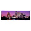 iCanvas Panoramic Panoramic Texas, Austin, View of an Urban Skyline at Night Photographic Print on Canvas