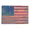 iCanvas Flags U.S.A. Grunge Graphic Art on Canvas in Pink