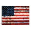 iCanvas Flags U.S.A. Grunge Metal Graphic Art on Canvas