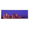 iCanvas Panoramic Seattle, Washington, Cityscape at Twilight Photographic Print on Canvas