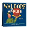 iCanvas Posters Waldorf Apples Crate Label Vintage Advertisement on Canvas