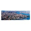 iCanvas Panoramic New York, Brooklyn Bridge, Aerial Photographic Print on Canvas