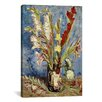 iCanvas 'Vase with Gladioli and China Asters, 1886 ll' by Vincent Van Gogh Painting Print on Canvas