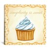 "iCanvas ""Vanilla Cupcake"" Canvas Wall Art by Jennifer Nilson"