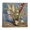"""iCanvas """"Vase with Gladioli and China Asters, 1886"""" Canvas Wall Art by Vincent Van Gogh"""