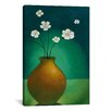 """iCanvas """"Vase with White Flowers"""" by Pablo Esteban Canvas Painting Print"""
