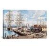 "iCanvas ""Vallejo St. Wharf"" by Stanton Manolakas Original Painting on Canvas"