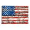 iCanvas 'U.S.A. Vintage Wood' by Maximilian San Graphic Art on Canvas
