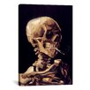 iCanvas 'Skull with Cigarette 1885' by Vincent Van Gogh Painting Print on Canvas