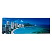 iCanvas Panoramic Waikiki Beach Honolulu Oahu HI Photographic Print on Canvas