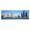 iCanvas Panoramic Skyline Detroit MI Photographic Print on Canvas