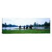 iCanvas Panoramic 'Siem Reap River and Elephants Angkor Vat Cambodia' Photographic Print on Canvas