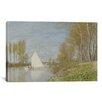 iCanvas 'Voilier Sur Le Petit Bras De La Seine, Argenteuil 1872' by Claude Monet Painting Print on Canvas