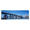 iCanvas Panoramic New York State, New York City, Brooklyn Bridge, Skyscrapers in a City Photographic Print on Canvas