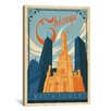 iCanvas 'The Water Tower - Chicago, Illinois' by Anderson Design Group Vintage Advertisement on Canvas
