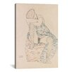 iCanvas 'Seated Figure with Gathered up Skirt' by Gustav Klimt Painting Print on Canvas