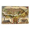 """iCanvas Antique Maps """"Toledo (Spain in 1598)"""" by Braun Hogenberg Graphic Art on Wrapped Canvas"""