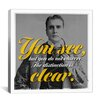 iCanvas Sherlock Holmes Quote Canvas Wall Art