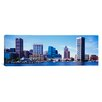 iCanvas Panoramic Maryland, Baltimore, Skyscrapers along the Inner Harbor Photographic Print on Canvas