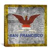 iCanvas Flags San Francisco Map Graphic Art on Canvas