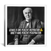 iCanvas Thomas Edison Quote Canvas Wall Art