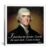 iCanvas Thomas Jefferson Quote Canvas Wall Art