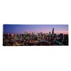 iCanvas Panoramic 'Skyscrapers in a City Lit up at Dusk, Chicago, Illinois' Photographic Print on Canvas